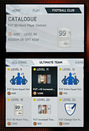 FUT-catalogue