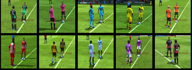 Best kits in FIFA 13