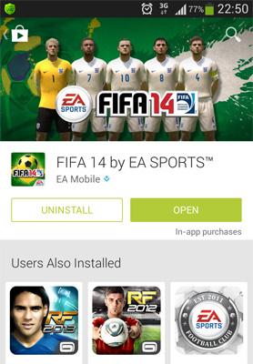 FIFA mobile app