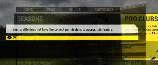 FIFA profile permissions fix