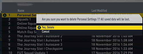 fifa personal settings