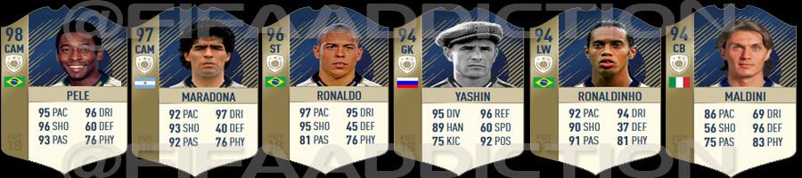 Every FIFA18 prime icon