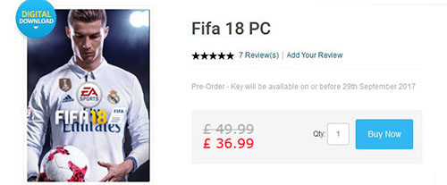 e8fdcbe8b Best FIFA 18 price on PC