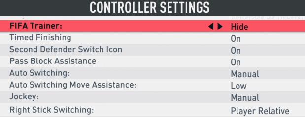 fifa 20 controls